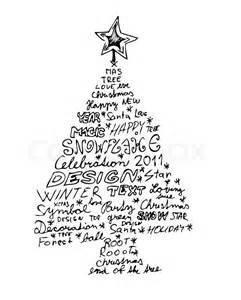 hand gezeichnet weihnachtsbaum auf dem wei 223 en hintergrund