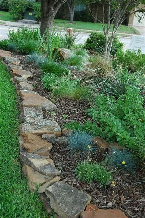 rock garden borders best 25 flower bed edging ideas on garden