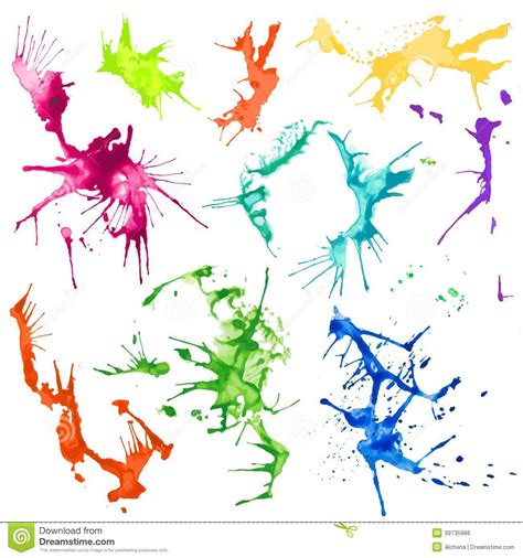 vector water color splash stains stock vector image 39735986