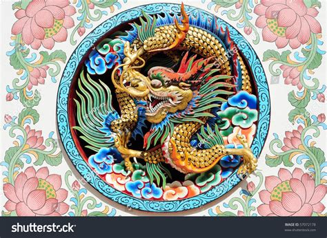 oriental design ancient chinese dragon on stock photo ancient chinese dragon pattern stock photo 57072178