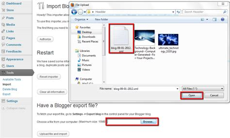 blogger xml to wordpress moving your blog from blogger to wordpress beginner s world