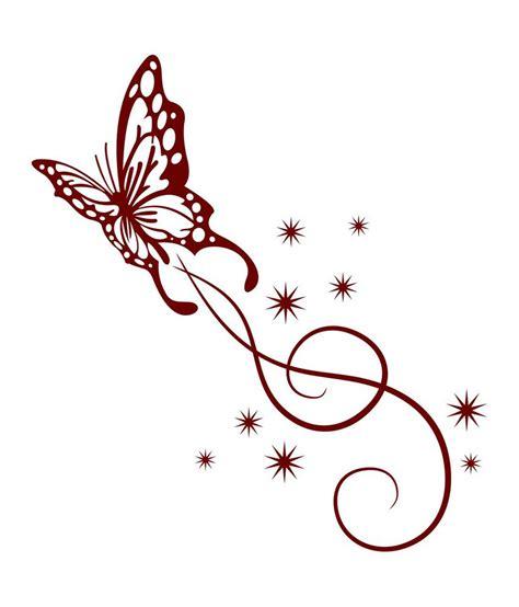 Gold Leaf Home Decor by Chipakk Fancy Maroon Butterfly Swirl Wall Sticker Buy