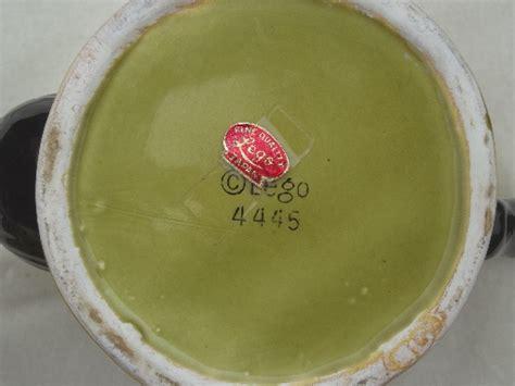 Vintage ceramic Owl teapot, foil label Lego   Japan hand