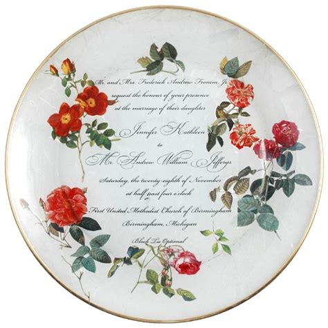 Decoupage On Plates - decoupage wedding plate crafts sewing furniture diy