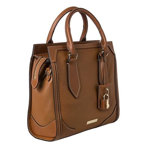 Overstock Leather by Burberry Honeywood Small Leather Structured Tote Bag