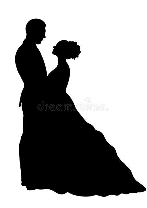 imagenes a blanco y negro de novios silueta de novia y del novio icono del vector dibujo del