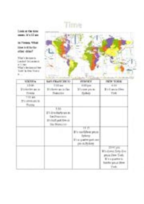 Time Zone Worksheet by Time Zones Worksheets Worksheets For School Getadating