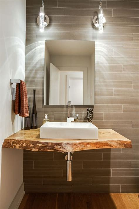 Wood Vanity Top Bathroom Charming Vanity Top Home Remodel Dallas Contemporary Exposed Plumbing Live Edge Wood Counter