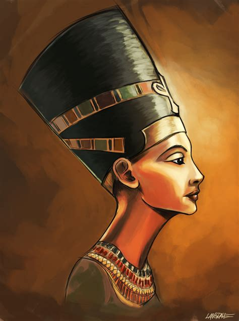 nefertiti tattoo designs michael langdale illustration design