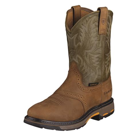 mens pull on boot ariat workhog pull on mens work boots