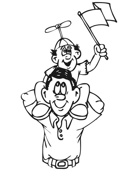 anime father and daughter coloring pages