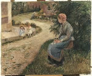 nanny in the garden of eragny camille pissarro