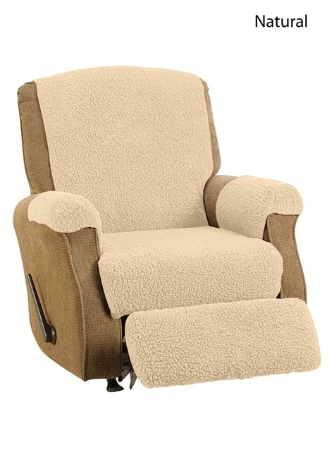 Sofa Recliner Slipcover Slipcover Reclining Sofa Reclining Sofa Slipcover Ribbed Texture Chocolate Adapted For Dual