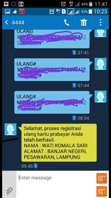 format registrasi ulang inilah peraturan baru registrasi kartu sim di indonesia