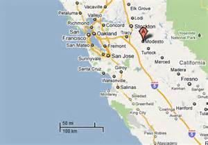 modesto california map sighting reports 2011
