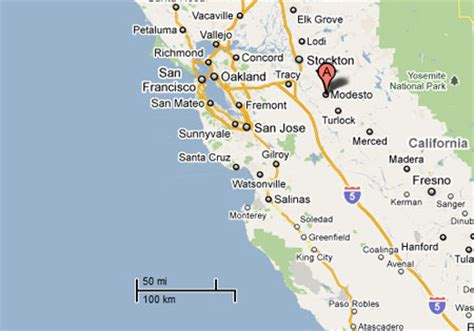where is modesto california on a map sighting reports 2011