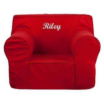 personalized kids chairs sofas personalized oversized solid red kids chair dg lge ch kid