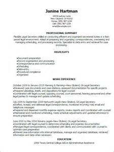 secretarial resume template professional resume templates to showcase