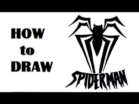 spiderman tribal tattoo how to draw logo tribal