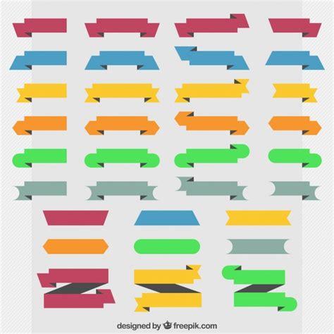 cintas decorativas colecci 243 n de cintas decorativas coloridas en dise 241 o plano