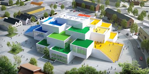 big lego house big s lego house tops out with opening date in september inhabitat green design