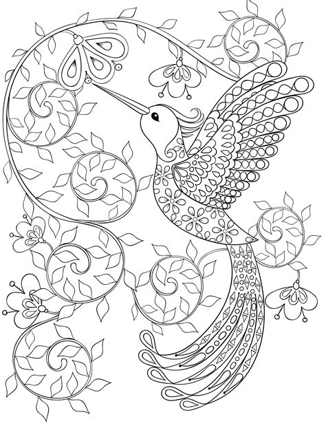 bird design coloring page 20 gorgeous free printable adult coloring pages page 11