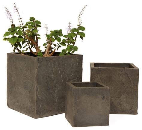 cast planters co de fiori 8 quot cast slate planter outdoor pots and