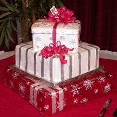 christmas gift box fondant cake this three tier gift box cake is made to look like a present wedding cake