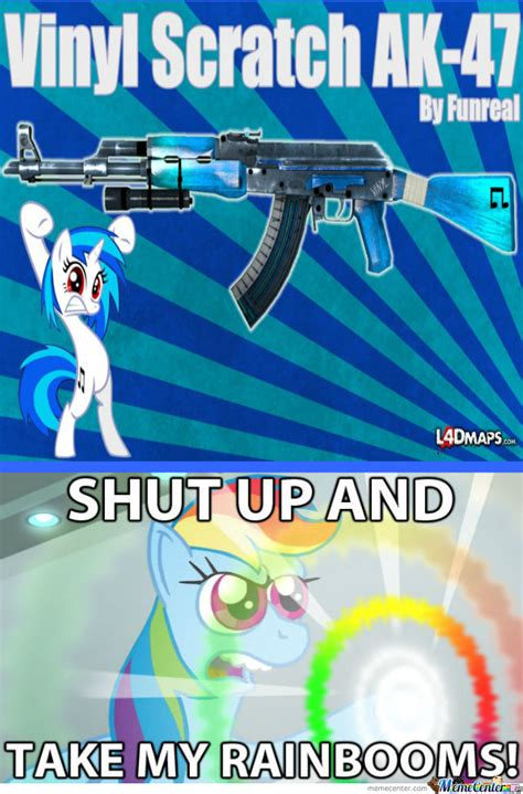 Vinyl Meme - vinyl scratch ak 47 by radon online meme center