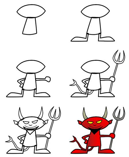 how to draw a nice boat drawing a cartoon devil devil originals and drawings