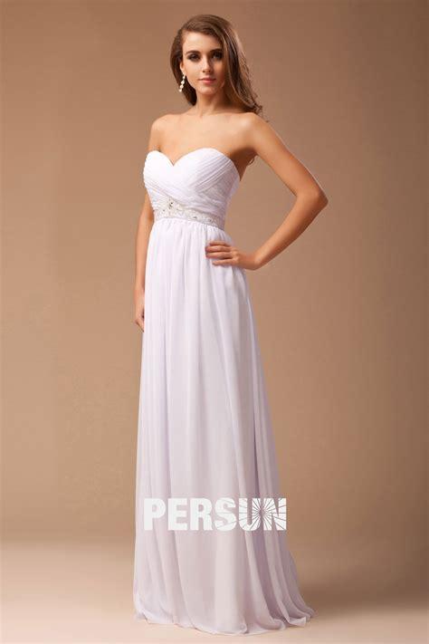 Robe Blanche Simple Pour Mariage - robe blanche empire d 233 collet 233 en cœur simple en mousseline