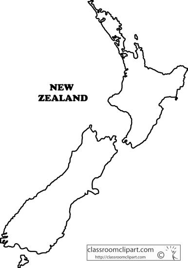 printable maps nz new zealand clipart new zealand outline map ga2