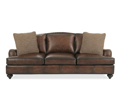 bernhardt fulham leather sofa mathis brothers furniture
