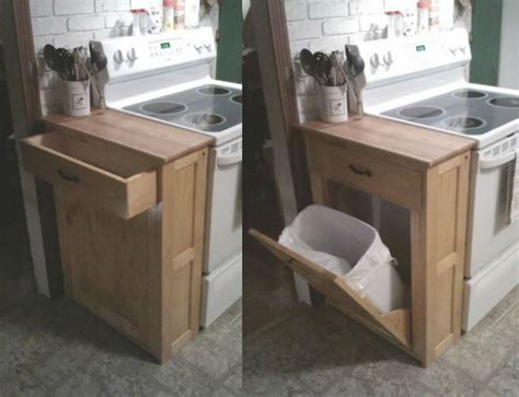 tilt out laundry cabinet diy wood tilt out trash or recycling cabinet tutorial by