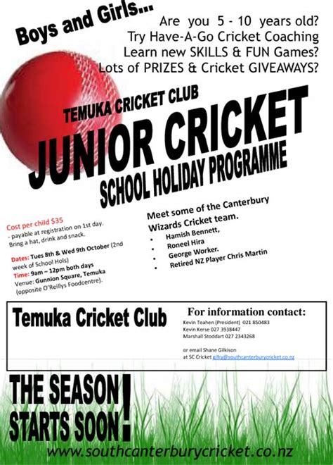 Invitation Letter Format For Cricket Match Format Of Invitation Letter For Cricket Tournament The News South Canterbury Cricket Part