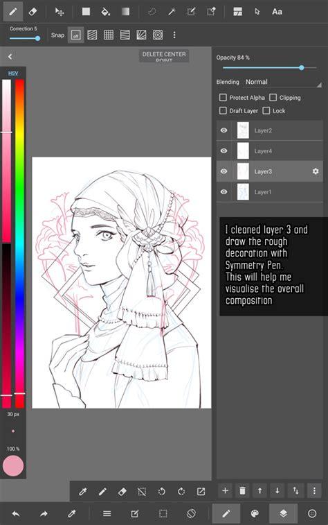 tutorial line art android kidchan s medibang paint android line art tutorial part