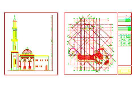 design masjid autocad bloques cad autocad arquitectura download 2d 3d dwg
