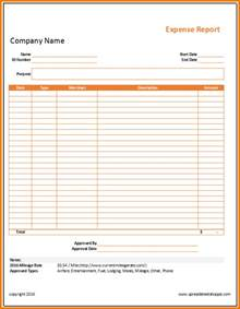 Simple Expense Sheet Template by 7 Simple Expense Report Expense Report