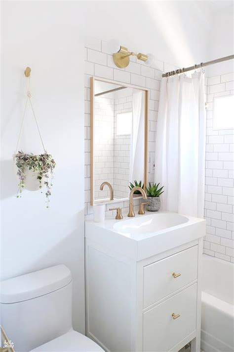 small white bathroom decorating ideas ikea yddingen washstand with ikea skogsvag mirror transitional bathroom sherwin williams