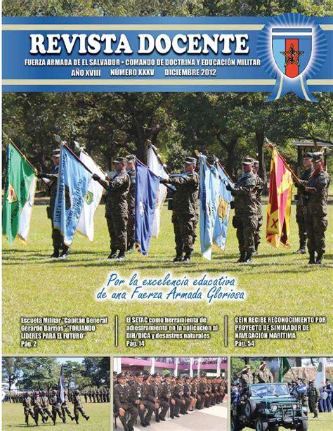 armada el revista docente de la fuerza armada de el salvador by jose