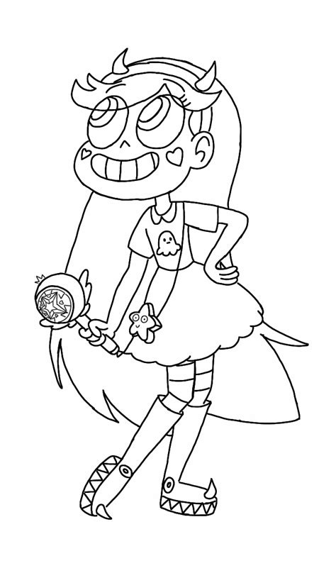 star butterfly coloring page star butterfly outline by ppgfan02 on deviantart