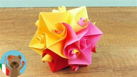 origami di fiori decorazione di primavera pallina origami di fiore