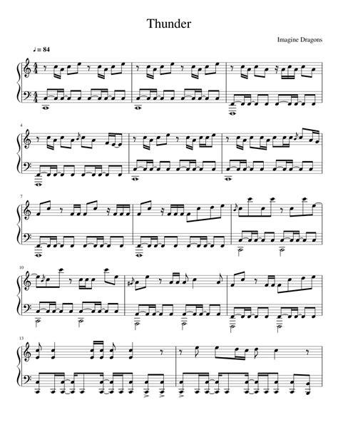 imagine lyrics printable version thunder imagine dragons sheet music for piano and
