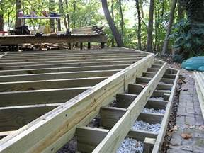 Handrails For Steps A Deck In The Woods Fros Carpentry