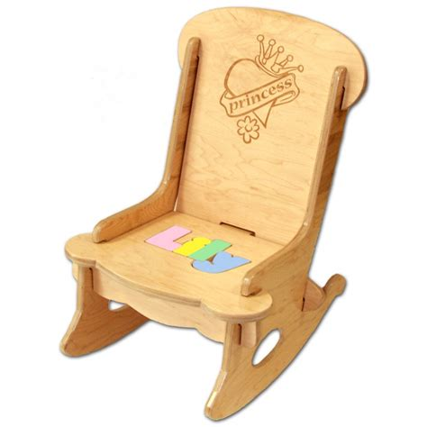 Child Stool With Name Blocks by Child S Puzzle Rocking Chair Princess Engrave Damhorst