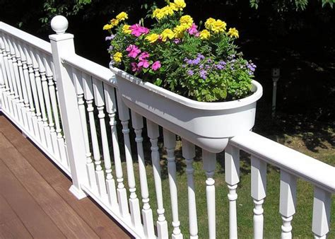deck railing planter new trend in outdoor decorating