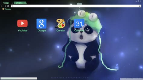 theme chrome panda panda and frog chrome theme themebeta