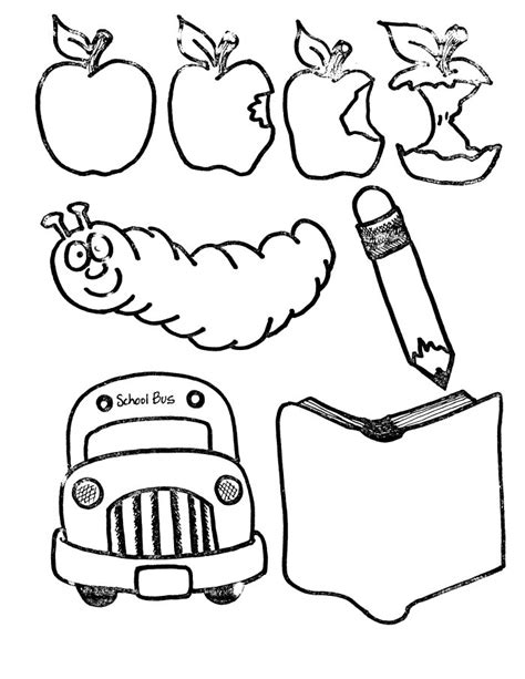 free coloring pages school supplies school supplies coloring page clipart panda free