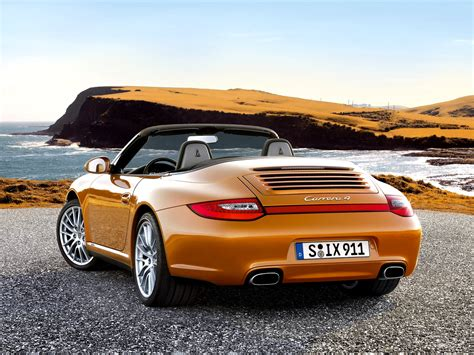 orange porsche 911 convertible 911 carrera 4 convertible 997 911 carrera 4 porsche