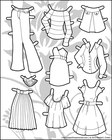 printable paper doll dresses and yet more clothing for the ms mannequin printable paper